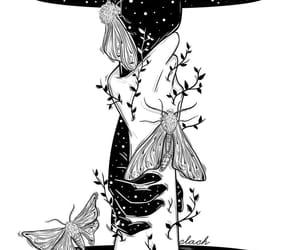 black and white, dark, and faith image