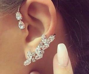 fashion, earrings, and diamond image