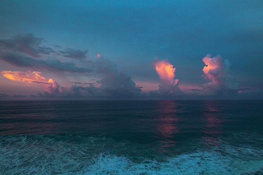sky, sea, and blue image