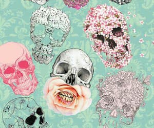 flowers and skull image