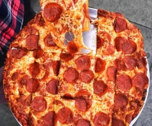 food, fast food, and pizza image