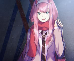 anime, anime girl, and zero two image