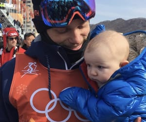 baby, olympics, and Skiing image