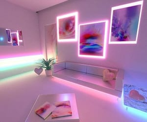 neon, pink, and room image