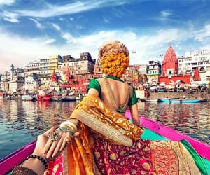 couple, india, and travel image