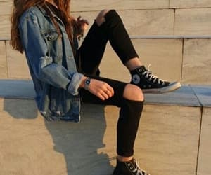 clothes, converse, and girl image