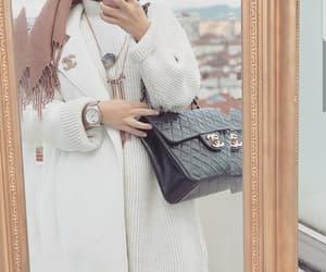 chanel, coat, and hijab image