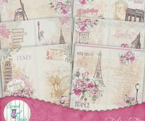 travel, journal pages, and paper craft supplies image
