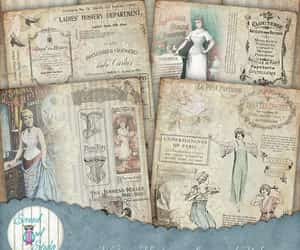 corset, journal pages, and junk journal image