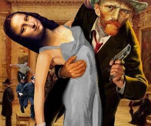 mona lisa, art, and van gogh image