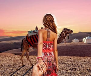 couple, morocco, and travel image