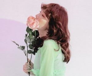 flowers, girl, and girls generation image