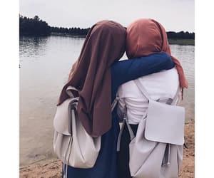 bags, beach, and hijab image