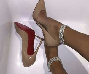 brand, heels, and shoes image