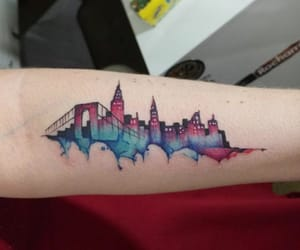 city, inspiration, and tattoo image