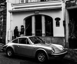 b&w, photography, and porsche image