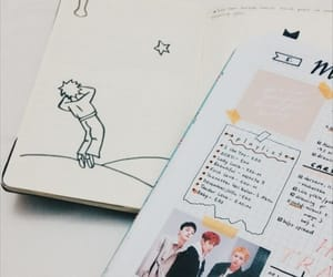 journal, kpop, and soft image
