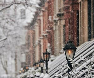 new york, places, and snow image