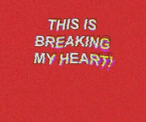 red, quotes, and heart image