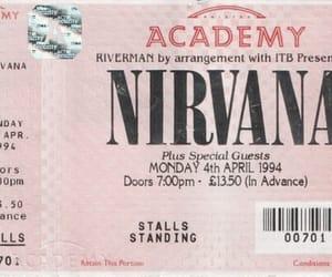 nirvana, ticket, and grunge image