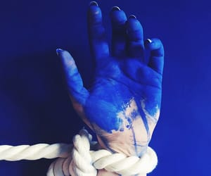 blue, hand, and rope image