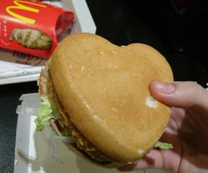 food, McDonalds, and heart image