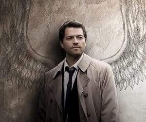 castiel, misha collins, and supernatural image