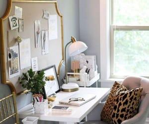 home, interior, and desk image