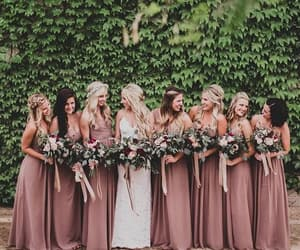 bridesmaid, wedding, and bride image