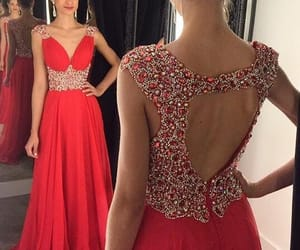 Prom, prom dress, and open back dress image