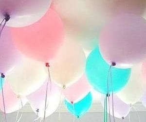 balloon, pink, and blue image