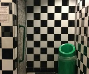 aesthetic, bathroom, and checkerboard image