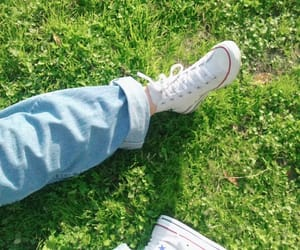 aesthetic, converse, and grass image