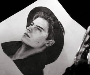 boy, drawing, and art image
