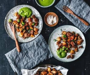 potato, tapas, and pesto image