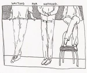 art, drawing, and waiting image