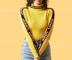fashion, yellow, and unif image