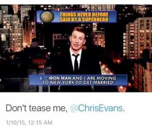 chris evans, funny, and robert downey jr image