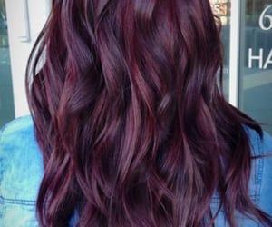 burgundy and burgundy hair dye image