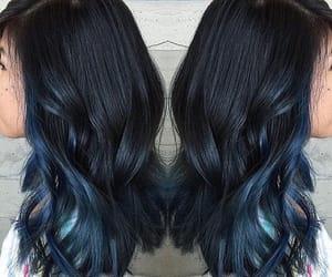 blue hair dye image