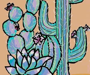 cactus, flower, and green image
