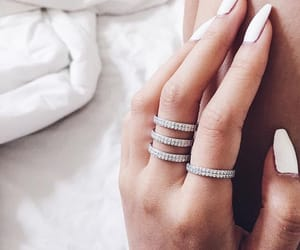 girl, hands, and rings image