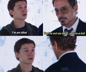 iron man, tony stark, and peter parker image