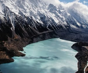 mountains, water, and new zealand image