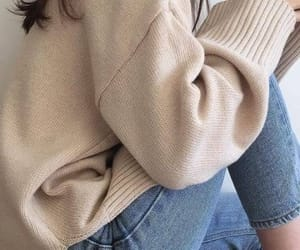 aesthetic, sweater, and beige image