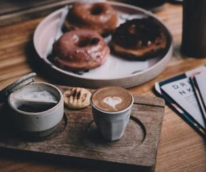 cafe, coffee, and doughnuts image