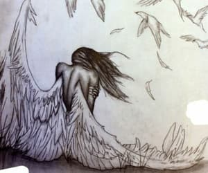 angel, art, and wings image