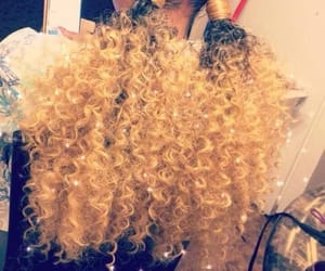 blond hair, curly, and curly hair image