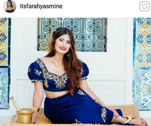 blue, arabic style, and traditional clothes image