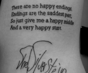 tattoo, quote, and happy image